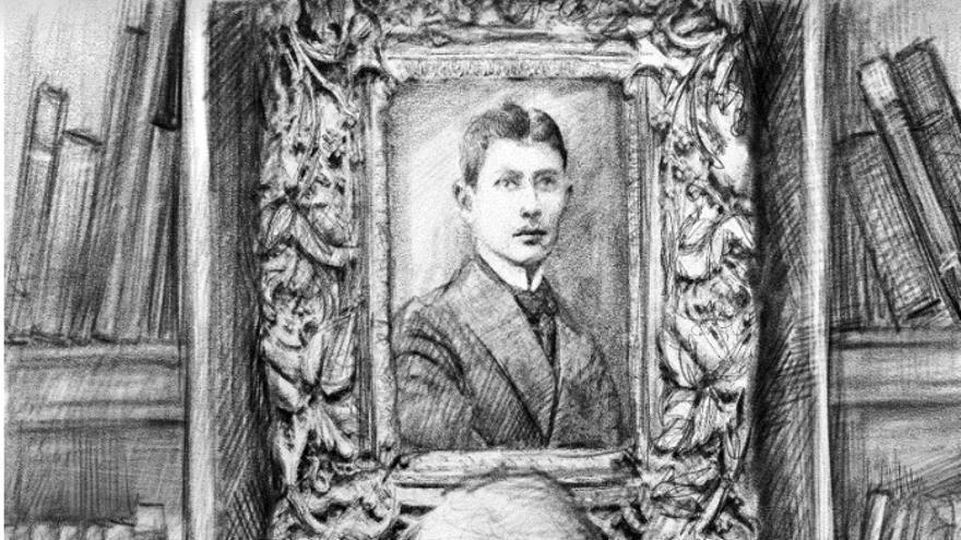 Portada de la novela 'A los que leen', de Jonathan Allen, dibujada por el pintor Iasen Sokolov.