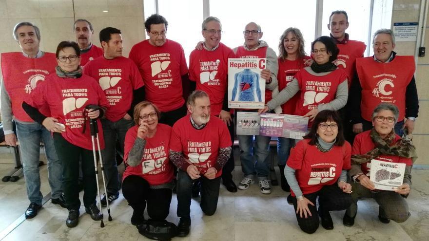 Plataforma de Afectados por la Hepatitis C de Castilla-La Macha, en el Hospital Virgen de la Salud de Toledo