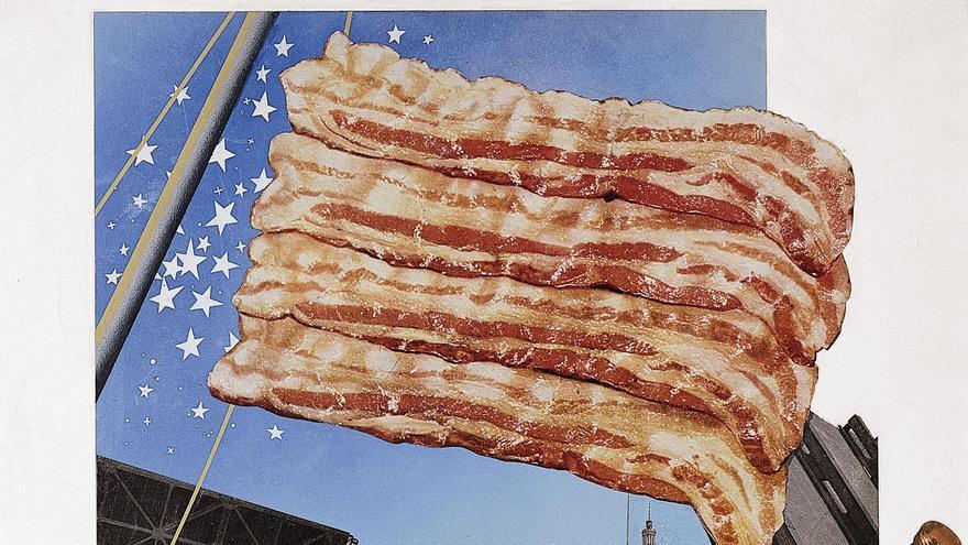 'Señorita Bistec de Chicago', de la serie 'The American Way of Life' de Josep Renau (1960-1966) / Cortesía IVAM. Depósito Fundación Renau, Valencia.