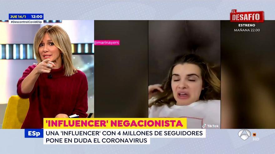 Susanna Griso responde a la influencer Marina Yers