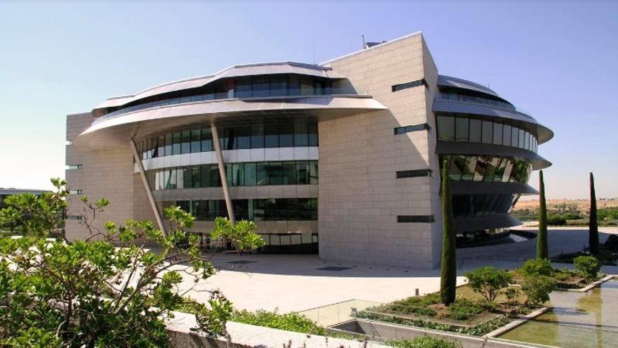 Edificio Pereda en la Ciudad Grupo Santander, en Boadilla del Monte (Madrid) sede corporativa del banco.