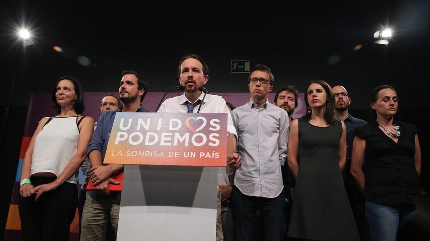 """Pablo Iglesias achaca al miedo al cambio su resultado electoral y no al acuerdo con IU o la campaña de """"bajo perfil"""""""