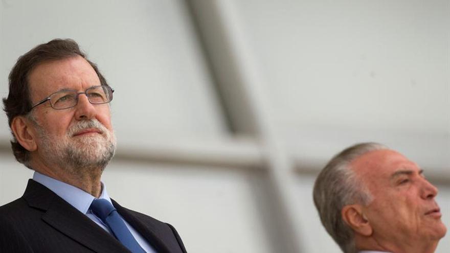Temer asegura a Rajoy que Brasil abre nuevas puertas a la inversión española