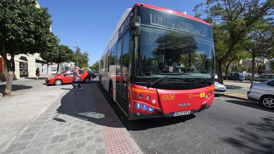 """El comité de Tussam había pedido la """"retirada"""" de todos los minibuses de la ruta C5 tras e ..."""