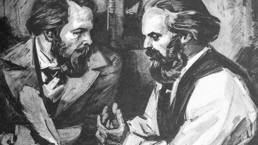 Friedrich Engels y Karl Marx, autores del Manifiesto Comunista. (DP)