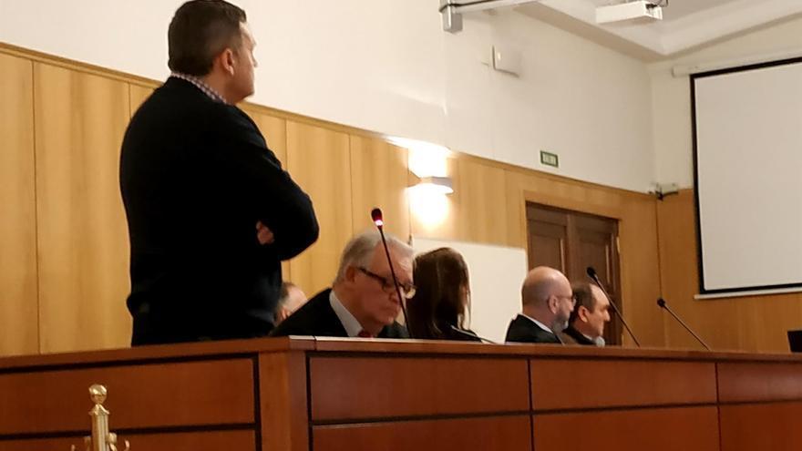 El exalcalde de Valdestillas (PSOE) durante el juicio.