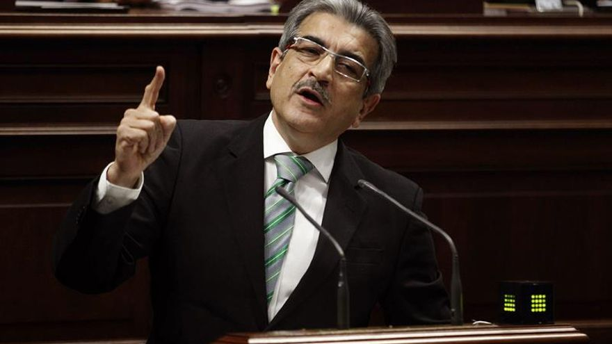 Román Rodríguez, en un momento del debate