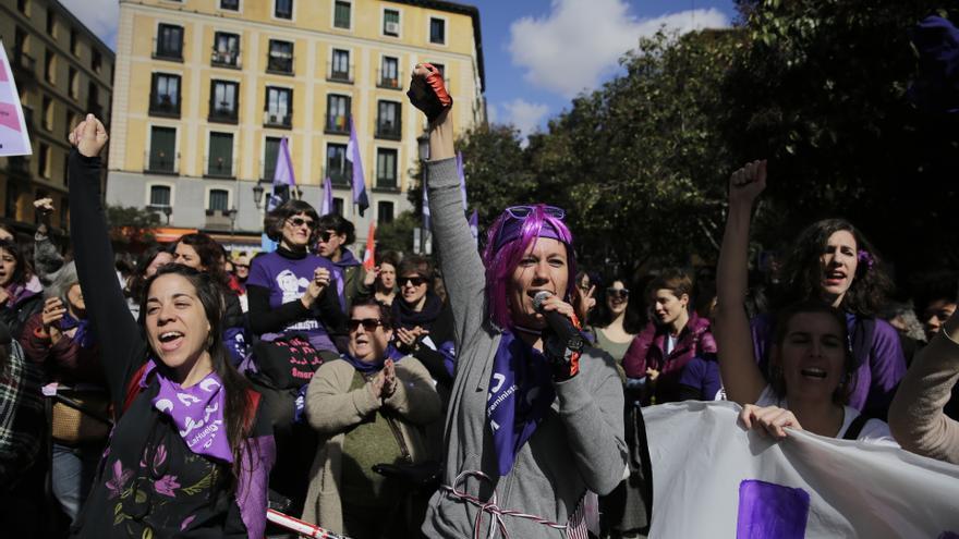 Manifestación del 8M en el barrio de Lavapiés. Olmo Calvo