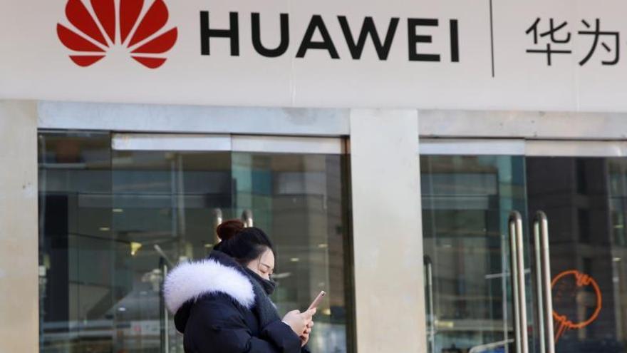 Un local comercial de Huawei en China.