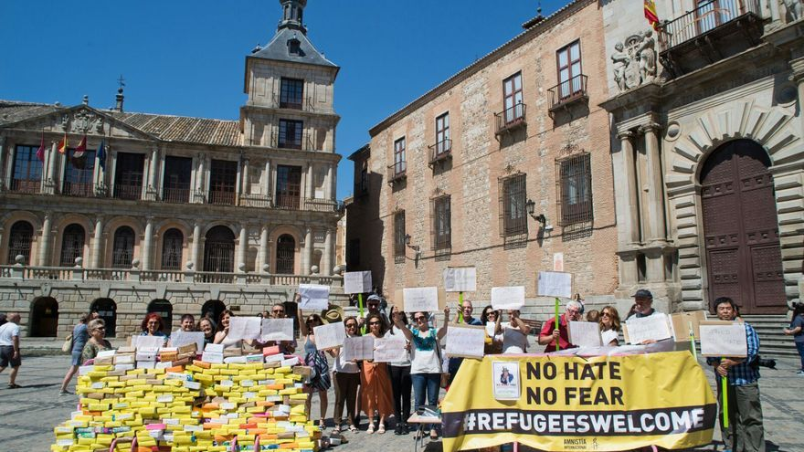 Concentración en Toledo. Foto Carlos Monroy