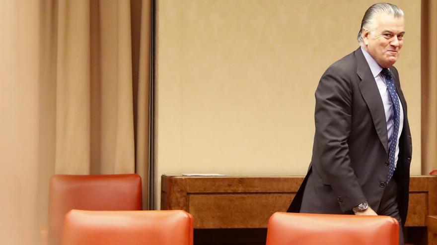 Luis Bárcenas en la comisión del Congreso de los diputados sobre la financiación ilegal del PP, en 2017