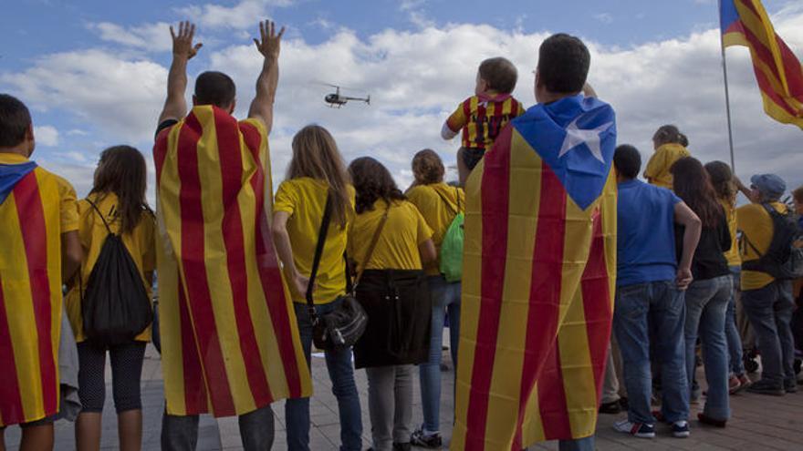 Símbolos independentistas. Foto: Enric Catalá. Archivo 2013.