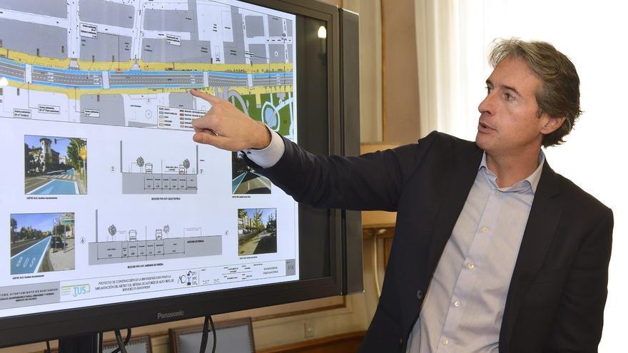 El 40% del recorrido del Metro-TUS entre Valdecilla y el Sardinero contará con carril bus-taxi