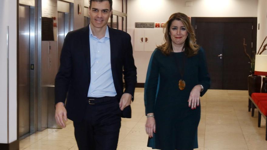 """Susana Díaz se reúne con Pedro Sánchez en Sevilla: """"Lo vamos a ayudar siempre en lo que sea necesario"""""""