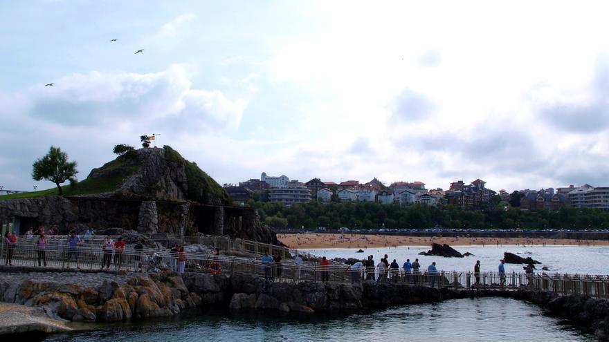 Vistas desde la península de La Magdalena en Santander