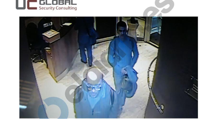 Las cámaras de seguridad recogen la visita de Soler y Grinyo.