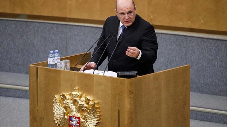 Mijaíl Mishustin, en su comparecencia ante la sesión plenaria de la Duma.
