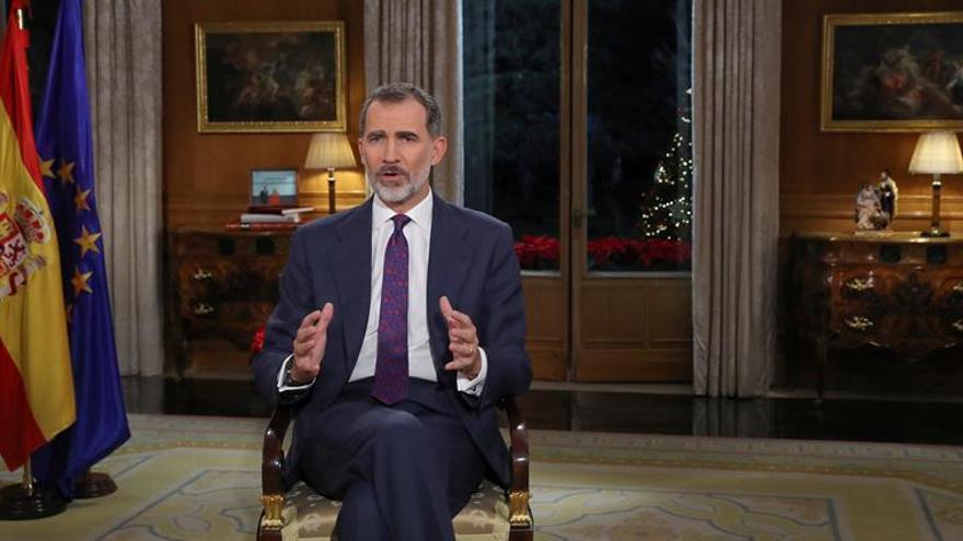 Felipe VI insta a impedir que renazcan en España el rencor y el resentimiento