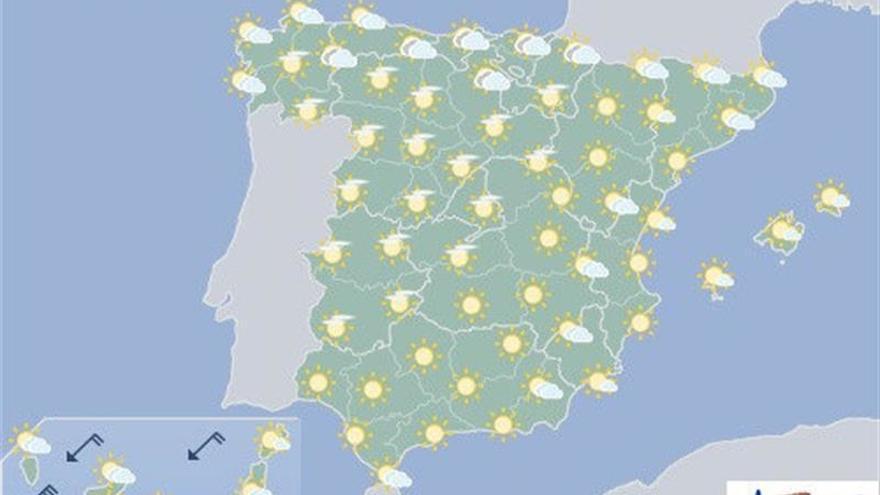 Descenso de temperaturas, que seguirán altas en sureste, Baleares y Canarias