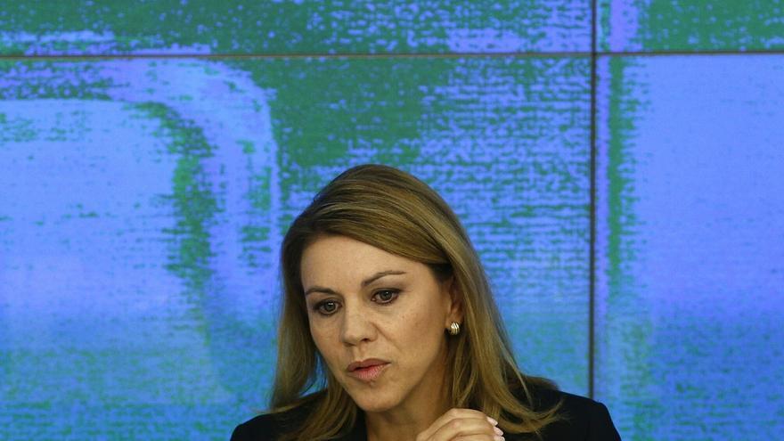 """Cospedal rechaza que se identifique PP con corrupción por Bárcenas, """"un señor que está en la cárcel"""" por su dinero"""