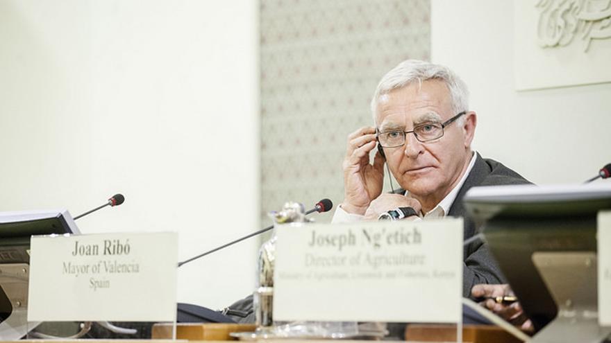 El alcalde de València, Joan Ribó, en el consejo de la FAO