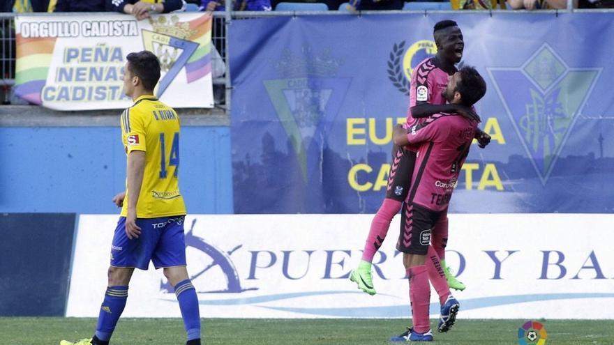 Amath celebra el gol de la victoria ante el Cádiz. (LA LIGA 123)
