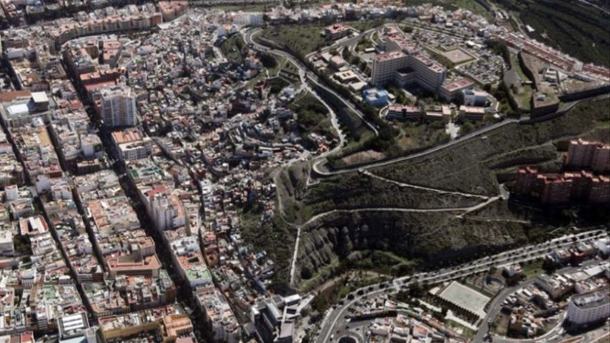 Enclave del Risco de San Nicolás donde se ubicará el Mirador del Diamante.