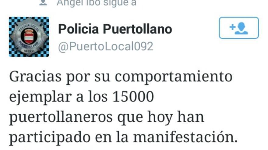 Manifestación contra el cierre de Elcogas. Foto por Policía Puertollano / Twitter