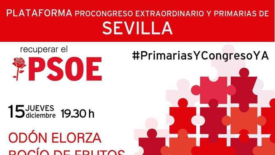 Convocatoria PSOE críticos Sevilla.