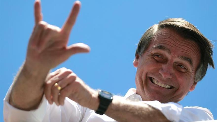Jair Bolsonaro, candidato favorito en las próximas elecciones de Brasil.