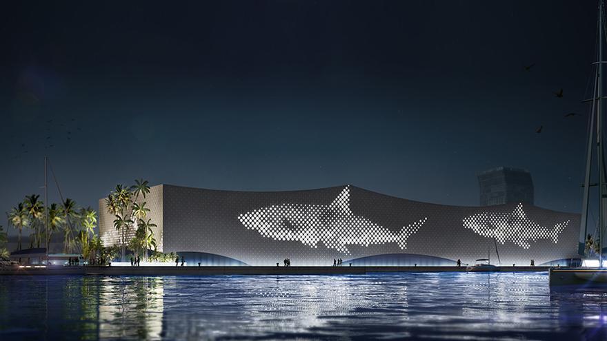Así será el futuro acuario de Las Palmas de Gran Canaria.