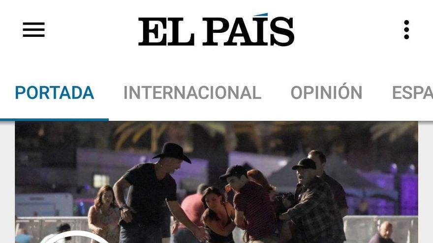 Captura del diario El País