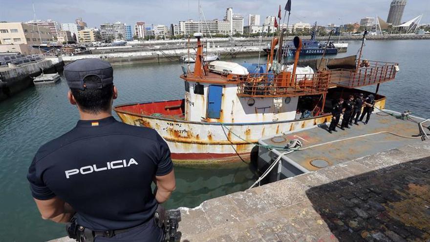 El pesquero venezolano interceptado por el buque Petrel'