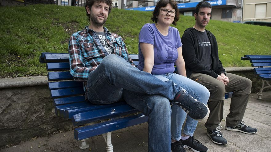 Tres de los acusados en el caso de Preguntar No Es Delito. | JOAQUÍN GÓMEZ SASTRE