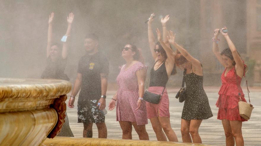 Temperaturas muy altas en la mitad este, valle del Guadalquivir y Baleares