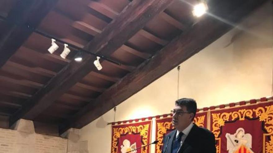 El presidente de las Corts, Enric Morera, en el acto del 25 de abril
