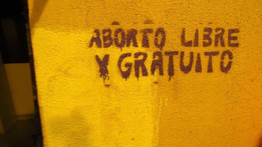 Pintada a favor del aborto libre. FOTO: Flickr de 'Daquella Manera' (Daniel Lobo)