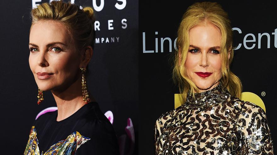 Nicole Kidman y Charlize Theron en imágenes de archivo