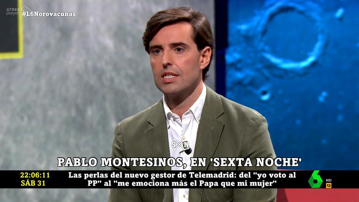 Pablo Montesinos (PP) en 'laSexta Noche'