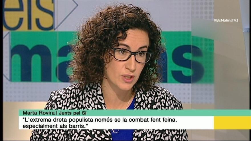 Rovira (JxSí) dice que no renunciarán al mandato soberanista para dialogar con el Gobierno