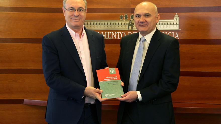 Juan Pablo Durán con Manuel Medina.