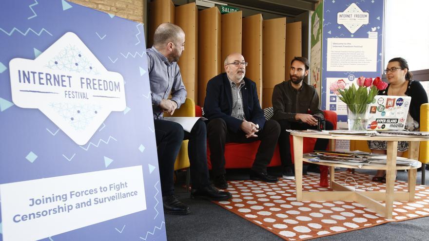 Guillermo Arazo, Manuel Alcaraz, Pepe Borrás y Sandra Ordóñez durante la presentación del festival