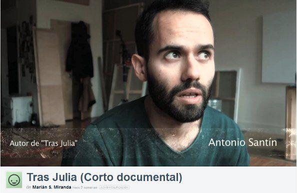 El autor de Tras Julia, en un fotograma del corto