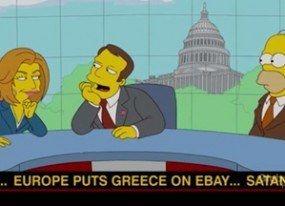 'Los Simpson' también predicen la situación actual en Grecia