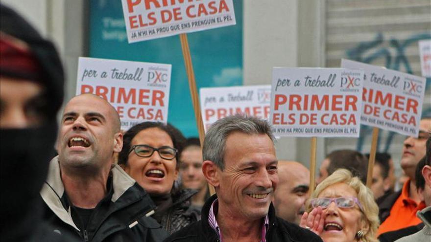 Josep Anglada en una concentración de Plataforma x Catalunya