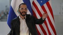 El presidente salvadoreño, Nayib Bukele, ofrece declaraciones este martes, en San Salvador (El Salvador).