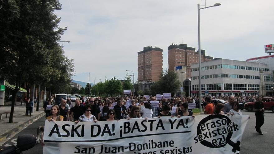 Cientos de personas rechazan en Pamplona las últimas agresiones sexistas