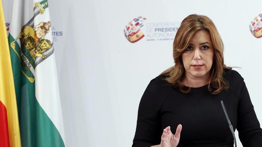 """Susana Díaz: """"No hay nada más bonito que el cariño en una organización"""""""