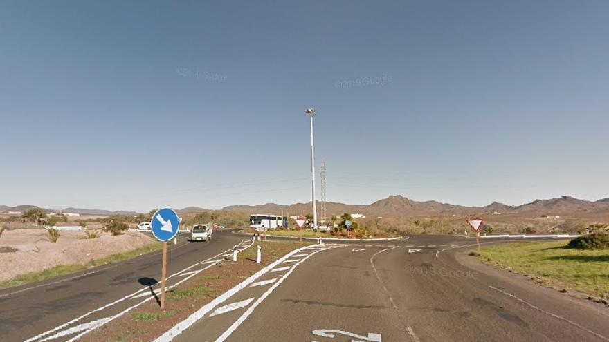 Carretera FV-2, a la altura de Tuineje