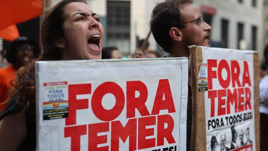 Sindicalistas protestan en todo Brasil contra la reforma laboral